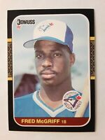 1987 Donruss FRED McGRIFF Rookie #621 Toronto Blue Jays