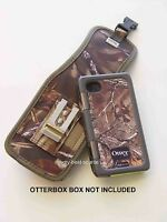 Camo w/Latch Pouch Holster/Clip iPhone 5S/5 For Otterbox Armor Case - Mossy