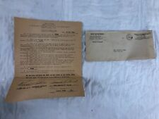 WWII Letter Sheppard Field Army Air Force Life Insurance Mail Cover David Bunch
