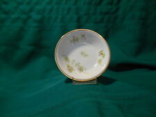 Limoges France China Bread Plates, Pink Flowers w/ Greenery, Gold Trim