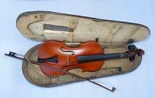 trés ancien petit violon mi - fin dans sa jolie boîte