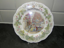 """BRAMBLY HEDGE ROYAL DOULTON OLD OAK PALACE 8"""" PLATE 1st QTY HOMES & WORK PLACES"""