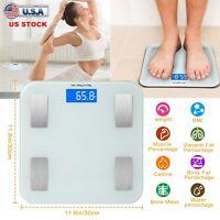 Wireless Body Fat Weight Scale 400 lb Electronic LCD Fitness Analyzer APP