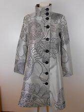 Desigual Mantel Coat Gr.44 Silber-Schwarz Asia-Syle Tailliert Extravagant TOP