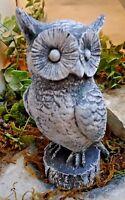 "Latex owl mold plaster mould  concrete mold 6""H x 3.5""W"