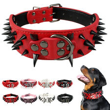 Rivet Spiked Studded Leather Large Dog Collar for Large Dogs German Shepherd XL