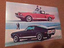 68 MUSTANG SHELBY COBRA GT 350 500 SALES MAILER LARGE POSTCARD 1968 FORD ISSUE