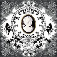 scrapbooks crafts Black /& White Cameo 4 x paper napkins for decoupage