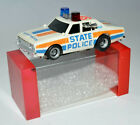 AURORA AFX YELL WHITE  CHEVY PURSUIT STATE POLICE CAR WITH A BOX TO KEEP IT SAFE