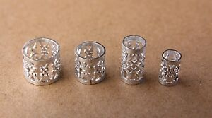 30 Silver Gold Black Filigree Dreadlock Cuffs Dread Hair Beads FREE s/steel ring