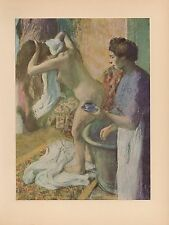 "1951 Vintage DEGAS ""BREAKFAST AFTER THE BATH"" COLOR Art Print Lithograph"