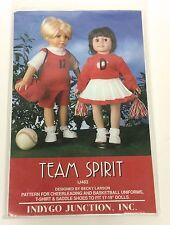 "Indygo Junction Doll Clothes Pattern 17-19"" Team Spirit Cheerleading Basketball"