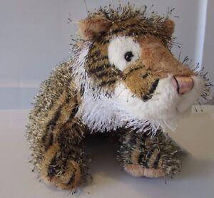 """Webkinz Tiger Ganz HM032 Bean Bag Eyelash Plush 6"""" Stuffed Animal Sealed Code"""