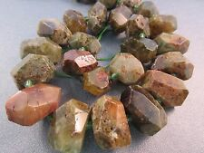 South African Green Garnet Faceted Freeform Nuggets Beads 25pcs