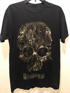 AMC 2013 The Walking Dead Zombies Skullhead Graphic Black S/S T-Shirt Size M