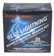 MANIC PANIC Blue Lightning Super Strength Hair Bleach Kit 30 VOLUME Vol NEW