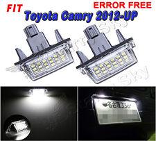 2 Bulb LED License Plate Light Xenon White High Power For Toyota Camry 2012-2016