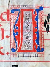 Huge Antiphonary Manuscript Lf.Vellum,2fancy A&E&2unusual G&S initials,c.1500