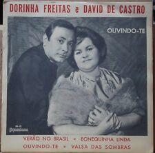 """DORINHA FREITAS E DAVID DE CASTRO 1964 Bossa Nova Samba P/S 7"""" BRAZIL 45 HEAR"""