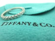 TIFFANY & CO. SHARED SETTING FULL CIRCLE .86 .85 DIAMOND PLATINUM WEDDING RING 6