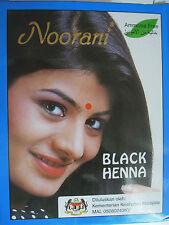 Noorani Henna Powder Color Hair Dye Black 6 Pouches x 10g Ammonia Free