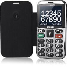 Brondi Amico Chic Nero Telefono Cellulare Dual Sim con Tasti Grandi