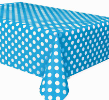 1pc  blue Polka Dot Plastic Table Cover Birthday Party Decoration