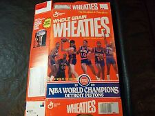 89  NBA Champions wheaties box Detroit Pistons