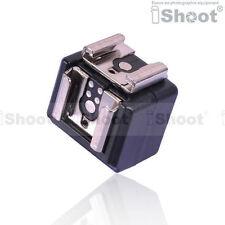 DUAL-Hot Shoe Mount Adattatore Flash Trigger WT porta sincronizzazione 3.5mm F Nikon Pentax Metz