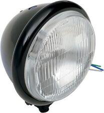 5 3/4 Halogen motorcycle headlight (gloss black) - custom, chopper, bobber, cafe
