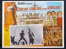 ELVIS PRESLEY GIRLS! GIRLS! GIRLS! STELLA STEVENS LOBBY CARD 1962 MEXICAN N MINT