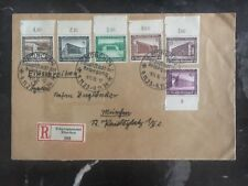 1936 Munich Germany Registered Cover Complete Set B93-101