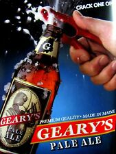 1995 Geary's Pale Ale Crack One Open Original Print Ad 9 x 11""