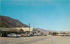 Vintage Postcard Street Scene Lee Vining CA Market Mono County US 395 Unposted