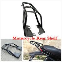 Black Motorcycle Tail Luggage Rack Mounting Bracket Seat Extension Rear Shelf