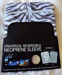 "HYPE Animal Print NEOPRENE Reversible SLEEVE FOR TABLETS NOTEBOOKS UP TO 10.1"""