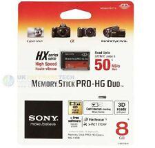 Sony Memory Stick Pro-hg Duo 8 Gb Tarjeta ms-hx8b para cámaras Cyber-shot - Handycam