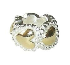 *New* Rhona Sutton two-tone 925 Sterling Silver heart spacer bead - European