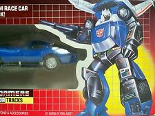 D0500024 TRACKS TRANSFORMERS MIB SEALED BUBBLE & CONTENT 1986 MINT IN BOX G1