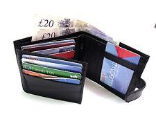 Para Hombre Nuevo suave genuino cuero negro de crédito tarjeta titular Billetera Monedero Coin Pouch