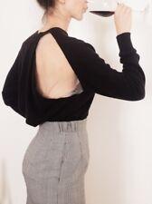 Alexander Wang Black Kashmir Peel Away Sweater - retail $550