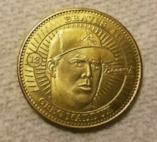 Pinnacle Mint Brass Coin Atlanta Braves Greg Maddux #12 1998