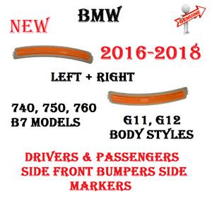 Front Bumper Left & Right Side Marker Lamp Lights For BMW G11 G12 GENUINE NEW