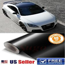 "GLoSSY BLACK LUXURY Gloss Vinyl Wrap ROOF Paint Protection Film 72""x60"" 6FTx5FT"