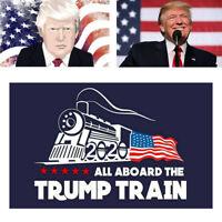 Hot Support Donald Trump Auto Car Bumper Sticker 2020 All Aboard The Trump Train