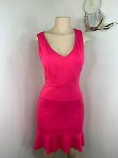Jennifer Lopez Dress size 2 pink v neck sleeveless womens party formal sheath