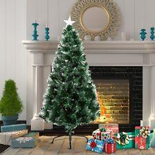 Árbol de Navidad Artificial Φ66x120cm + Estrella y Fibra Optica de 7 Colores