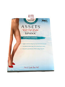 Assets Red Hot Label Spanx Size 2 Shaping Sheers Barest Bare New Slims Control
