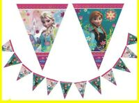 4m Frozen Elsa and Anna Happy Birthday Banner Party Decoration Supplies