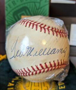 Ted Williams Signed Autographed OML Baseball HOF UDA Cert Bag Box 100% Complete